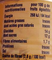 Cocktail de Fruits - Voedingswaarden - fr