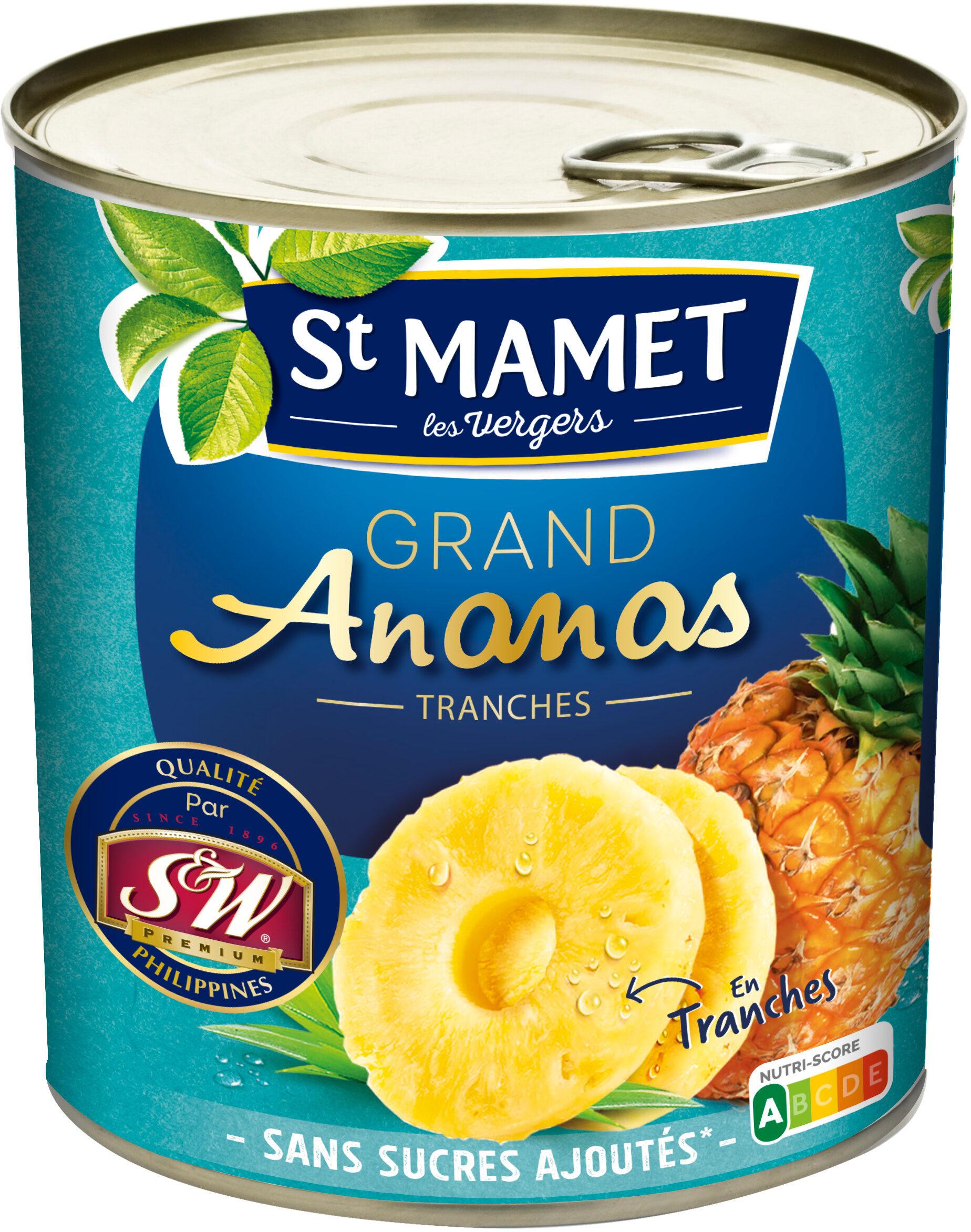 Grand Ananas Tranches Sans sucres ajoutés - 製品 - fr