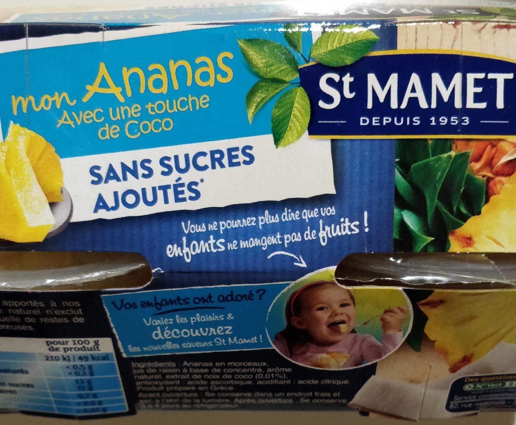 Mon Ananas avec une Touche de Coco - Produit