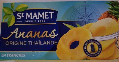Ananas Origine Thaïlande en Tranches - Produit