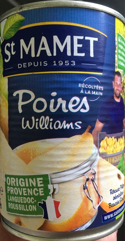 Poires william's au sirop SAINT MAMET - Produit