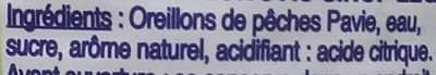 Pêches - Ingredients