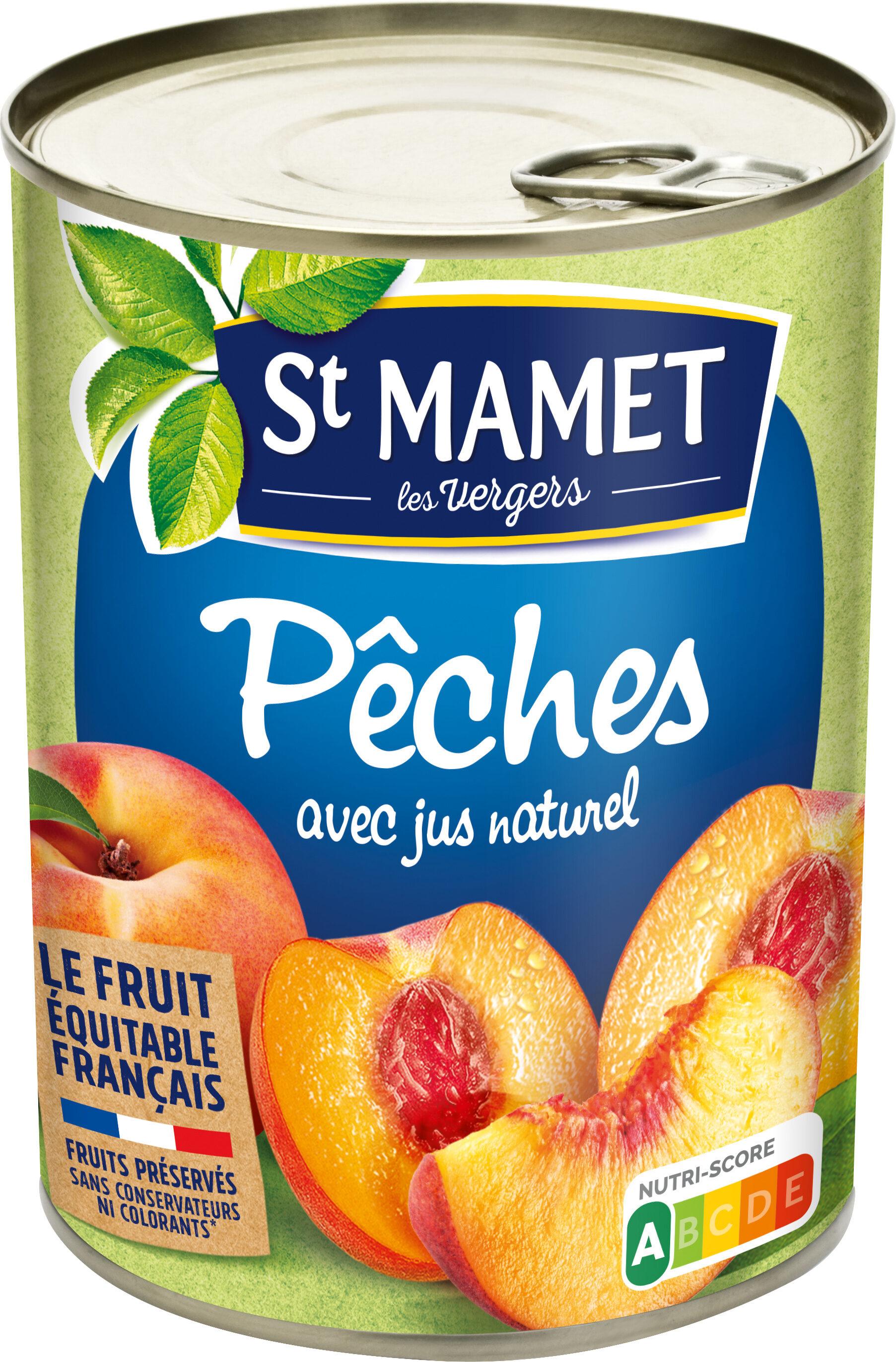 Pêches avec jus naturel - Product - fr
