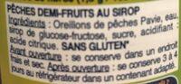 Pêches avec jus naturel - Ingredients - fr