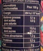 Fruitmix Velouté Pomme Poire Kiwi - Informations nutritionnelles