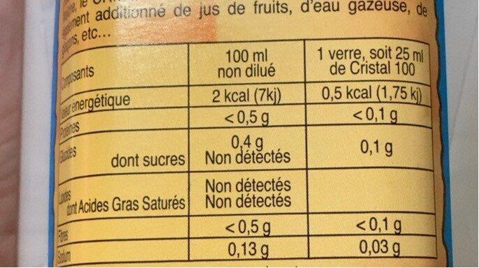Cristal 100 - Informations nutritionnelles - fr