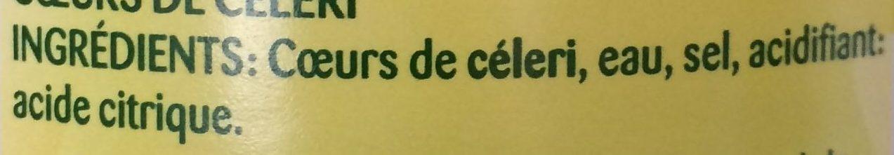 Cœurs de Céleri - Ingredients