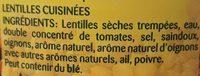 Lentilles cuisinées - Ingredienti - fr