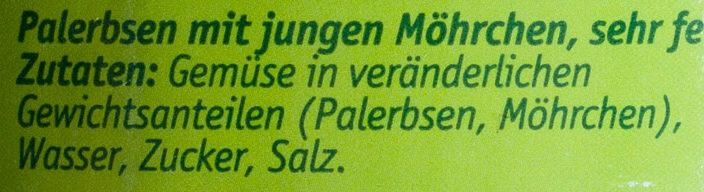 Erbsen & Möhrchen zart und fein - Ingredients