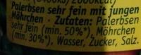 Erbsen mit Möhren - Ingrédients