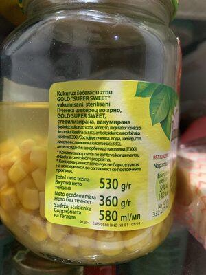 Gold Corn - Ingredienti - en