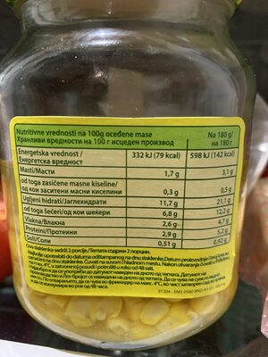 Gold Corn - Valori nutrizionali - en