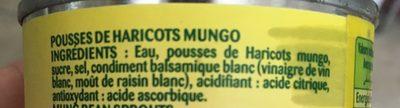 Pousse de haricots mungo - Ingredients