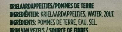 Krielaardappeltjes - Ingredients