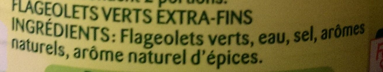 Flageolets verts, extra-fins - Ingrédients