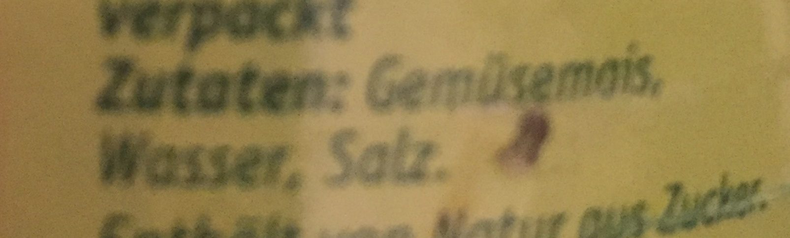 Goldmais - Inhaltsstoffe