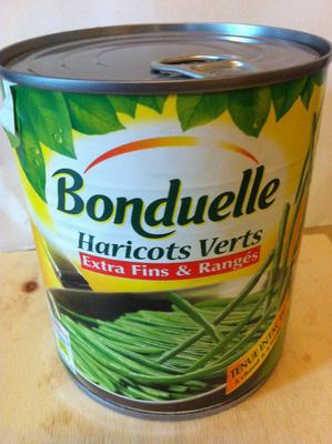 Haricots verts extra,fins \u0026 rangés , 800 g , Bonduelle , Produit