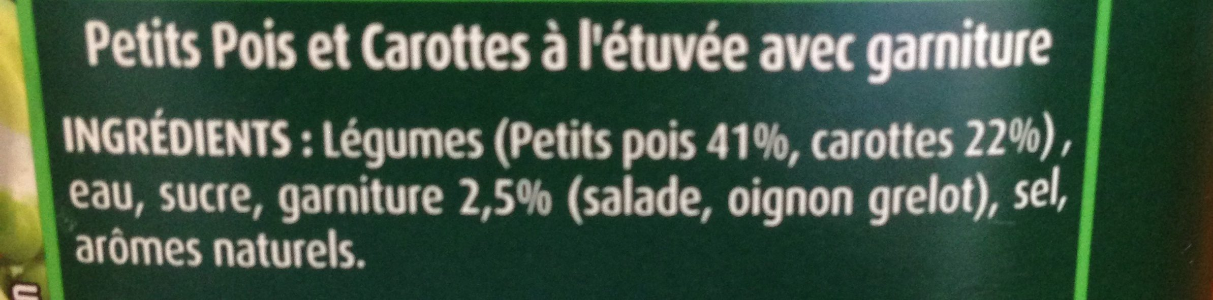 """Petits pois et carottes sélection """" - Ingrédients - fr"""