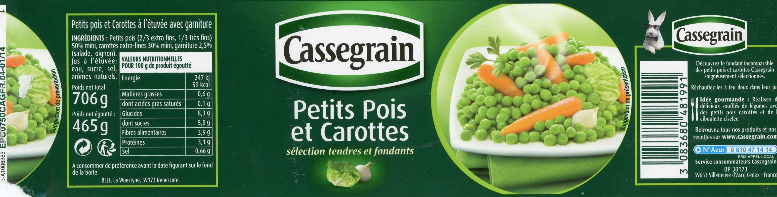 Petits pois et carottes - Voedigswaarden