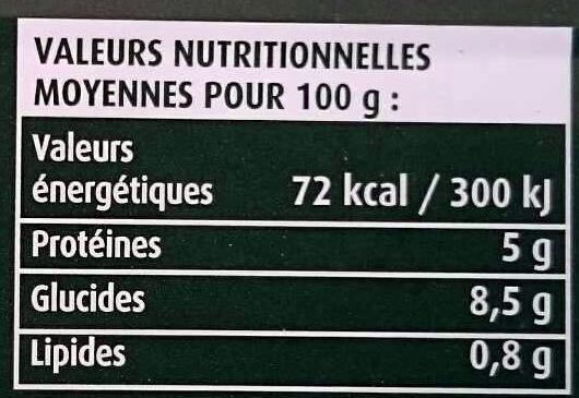 Cassegrain Petit Pois - Voedingswaarden