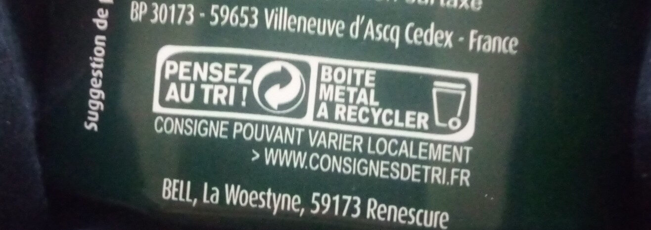 Petits Pois et Carottes - Instruction de recyclage et/ou information d'emballage - fr