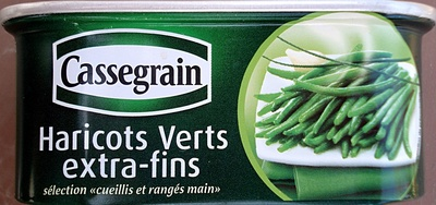 Haricots Verts extra-fins - 110 g - Cassegrain - Product - fr