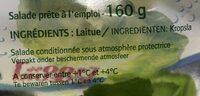 Coeur de laitue Feuilles délicates et croquantes - Ingrediënten - fr