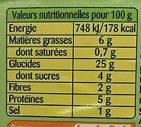 Taboulé Oriental Menthe - Información nutricional - fr