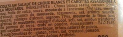 Coleslaw à la moutarde à l'ancienne - Bonduelle - Ingredients - fr