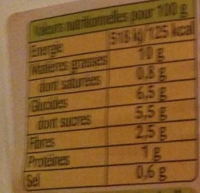 Coleslaw à la moutarde à l'ancienne - Bonduelle - Nutrition facts - fr