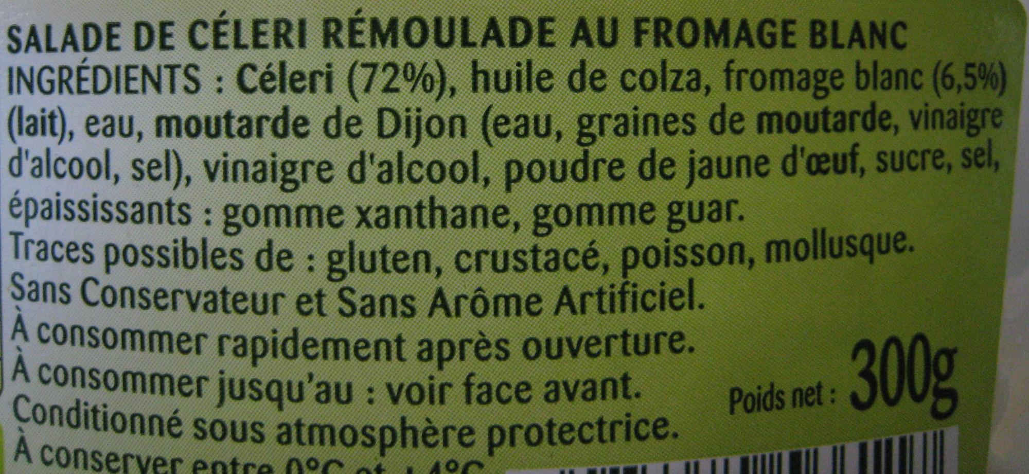 Céleri rémoulade au Fromage Blanc - Ingrediënten