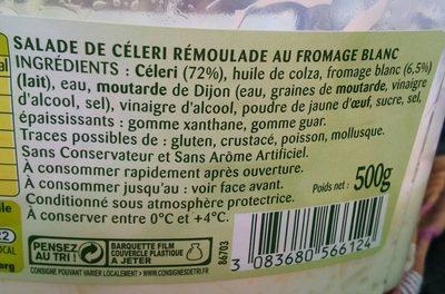 Céleri Bonduelle, Rémoulade - Ingredients
