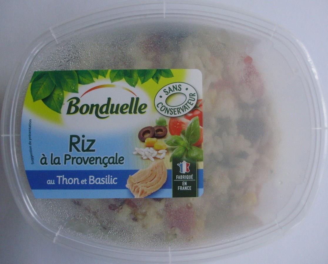 Riz à la Provençale au Thon et Basilic - Produit