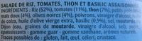 Riz à la Provençale au Thon et Basilic - Ingrédients