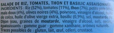 Riz à la Provençale au Thon et Basilic - Ingredientes