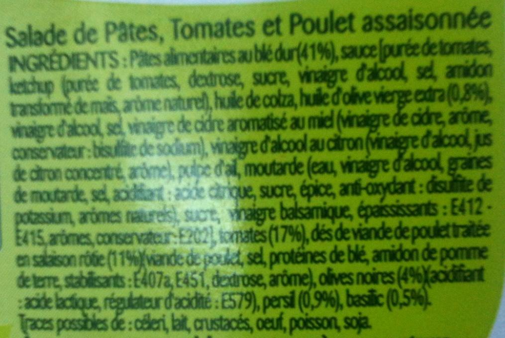 Penne au Poulet Grillé à la Napolitaine - Ingrédients - fr