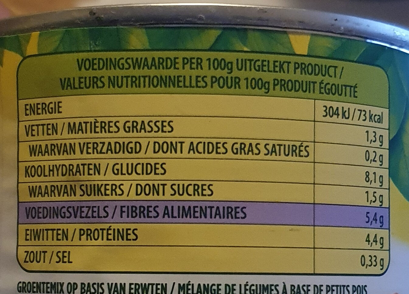 Mexico melange - Nutrition facts - nl