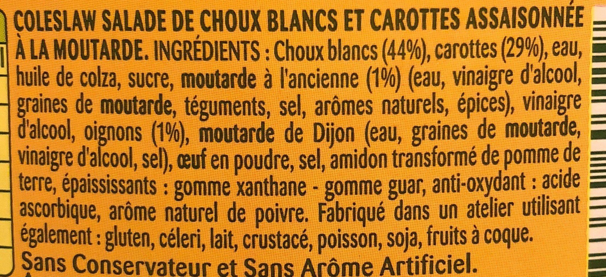 Coleslaw à la Moutarde à l'Ancienn - Ingrediënten - fr