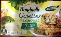 Galettes de légumes choux-fleurs, brocolis & carottes - Product