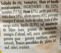 Riz à la Provençale au Thon & Basilic - Ingredientes - fr