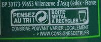 Aubergines cuisinées à la provençale - Instruction de recyclage et/ou information d'emballage - fr