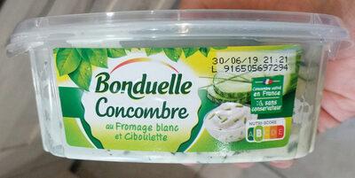 Concombres au fromage blanc et ciboulette - Produit