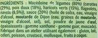 Macedoine de legumes - Ingrédients