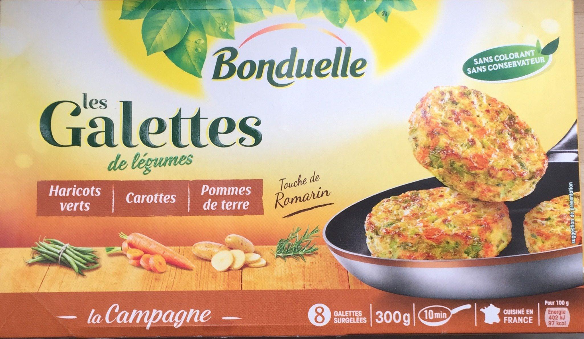 Galettes de Légumes, haricot, carotte, pdt - Product