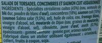 Tortis et Concombres au Saumon - Ingredients