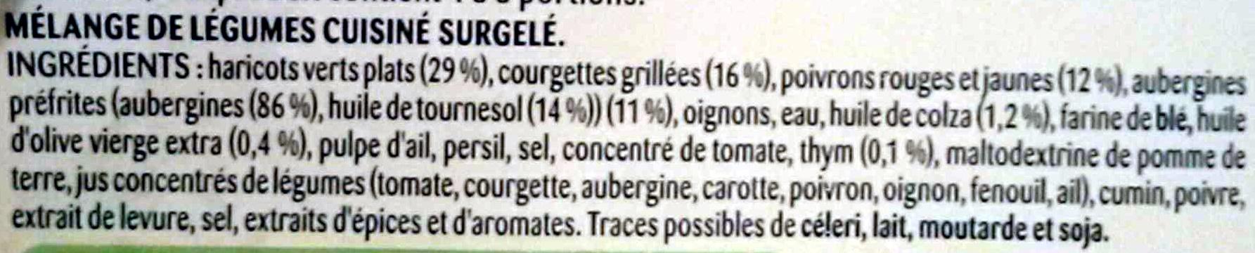 Poêlée du sud : La catalane aux haricots plats, courgettes grillées, thym - Ingrédients - fr