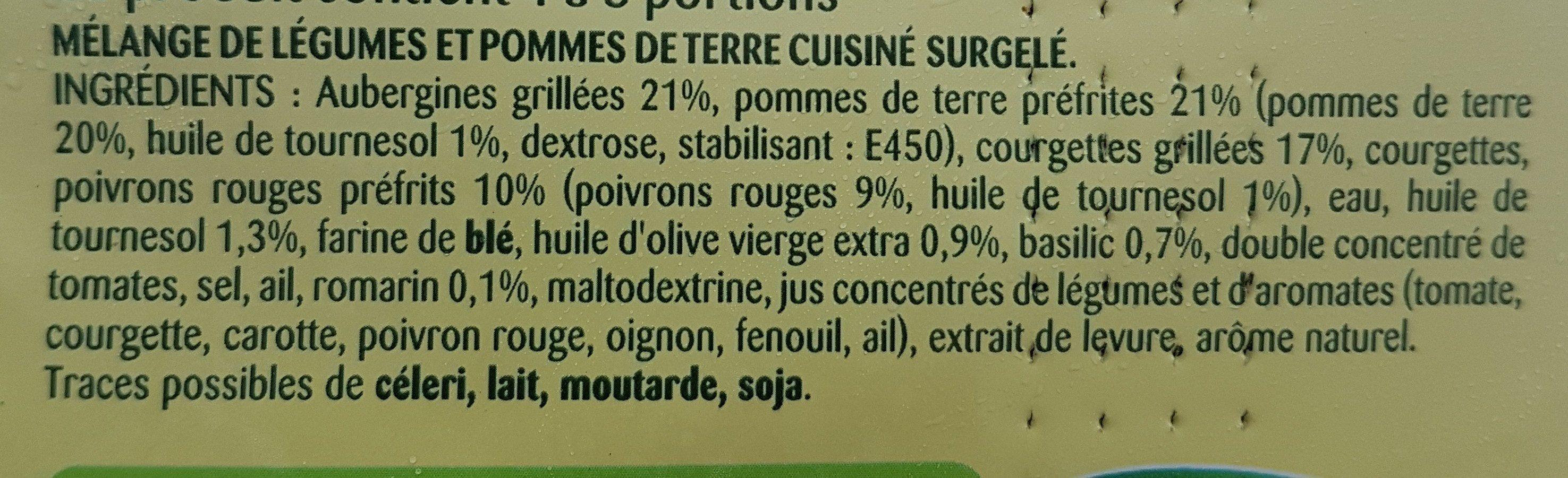 La Méditerranéenne - Ingrédients