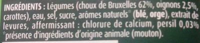 Petits choux de Bruxelles - Ingredients - fr