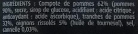 Compotée de pommes - Ingrédients
