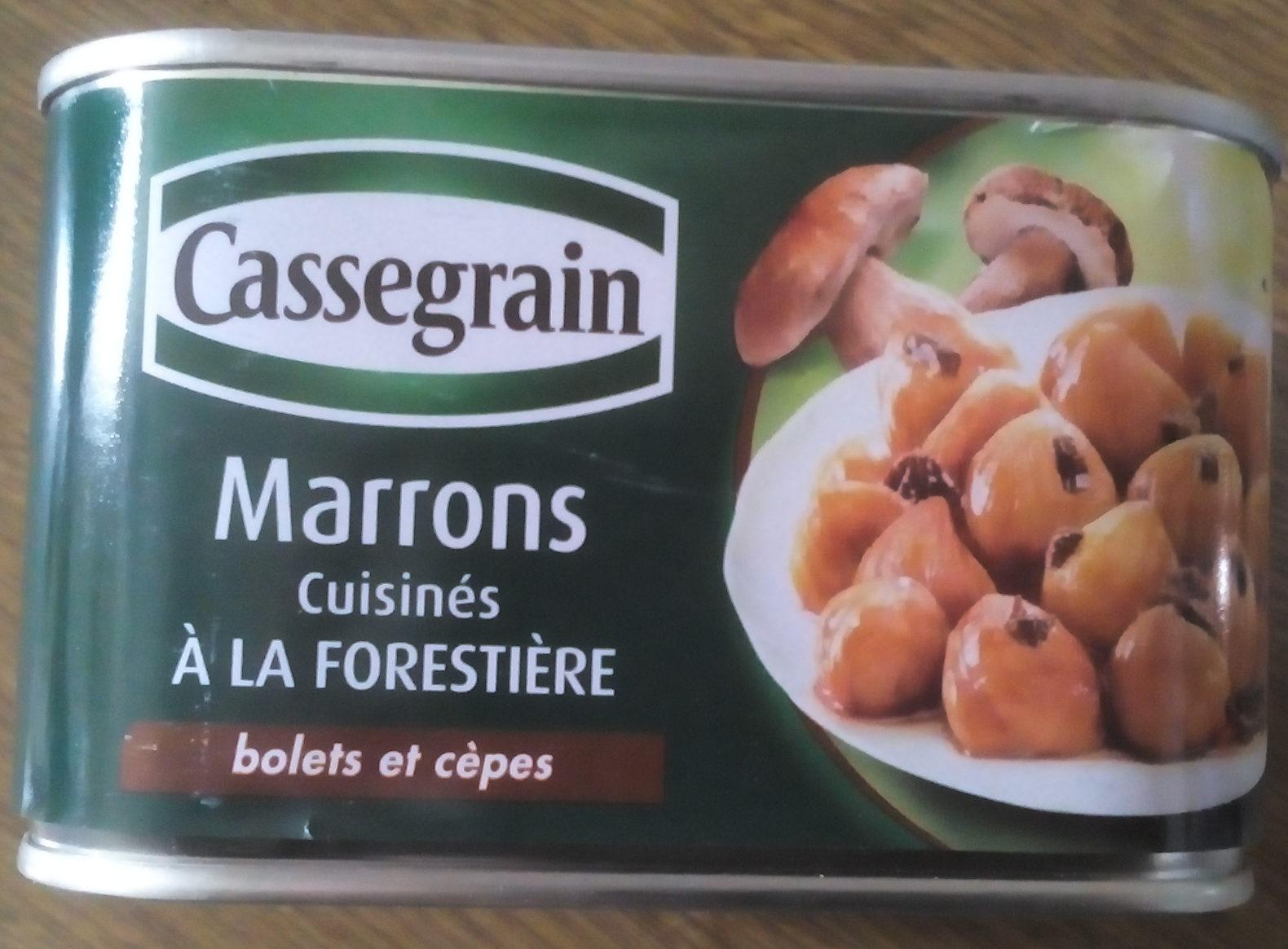 Marrons cuisinés à la Forestière - Product - fr
